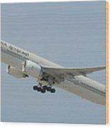 Saudia B-777 Wood Print