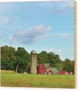 Sauer Farm, Mt. Marion Wood Print