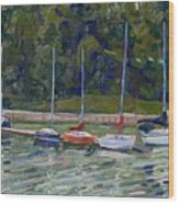 Saugeen Sails Wood Print
