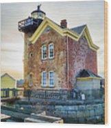 Saugerties Lighthouse Wood Print by Nancy De Flon
