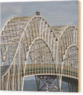 Sault Ste Marie International Bridge Arch Wood Print by Danielle Allard