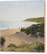 Saunton Beach Wood Print