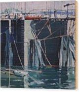 Sausalito Docks Wood Print