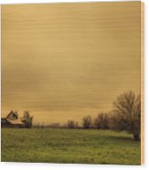 Sauvie Island Barn Wood Print