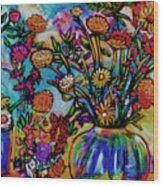 Sauvie Island Flowers Wood Print