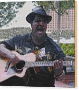Savanna Blues Man Wood Print