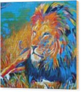 Savanna King Wood Print