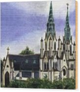 Savannah Cathedral Wood Print