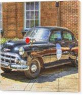Savannah Police Car 1953 Chevrolet  Wood Print