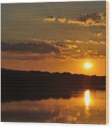 Savannah River Sunset Wood Print
