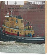 Savannah River Tug Wood Print