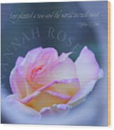 Savannah Rose 3 Wood Print