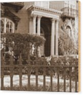 Savannah Sepia - Mercer House Wood Print