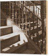 Savannah Sepia - Stairs Wood Print