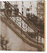 Savannah Sepia - Stoops Wood Print