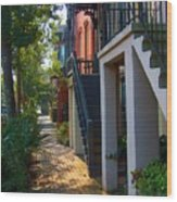 Savannah Streets Wood Print