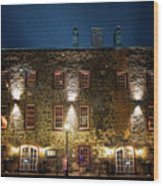 Savannah's Historic River Street Wood Print
