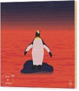 Save Penguin Wood Print