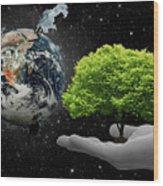 Save Tree Wood Print