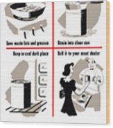 Save Waste Fats - Ww2  Wood Print