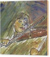 Saving Grace - A Portrait Of Robin Hoch Wood Print
