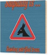 Sawing Bigstock Donkey 171252860 Wood Print