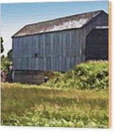 Sawmill Creek Covered Bridge Wood Print