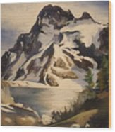 Sawtooth Mountain Lake Wood Print