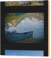 Sawtooth Trio Wood Print