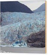 Sawyer Glacier Wood Print