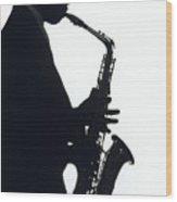 Sax 2 Wood Print