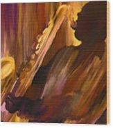 Sax And Soul Wood Print