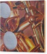 Sax Wood Print