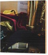 Sax In Repose Wood Print