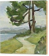 Saxe Point Tree Wood Print