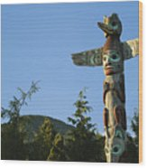 Saxman Totem Park Wood Print by Greg Vaughn - Printscapes