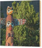 Saxman Totem Wood Print