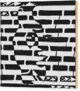 Saxophone Player Or Woman Maze Wood Print