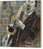 Saxplayer 570120 Wood Print