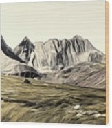 Sayan Landscape Wood Print