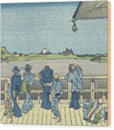 Sazai Hall Of The Five Wood Print