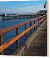 Sb Pier - The Golden Path Wood Print