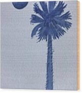 Sc Palmetto And Crescent Wood Print