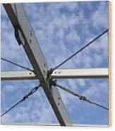 Scaffolding Sky View Wood Print