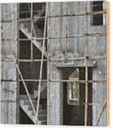 Scaffolds And Stairs Wood Print