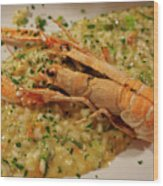 Scampi Risotto Wood Print