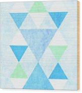 Scandi Blue Wood Print
