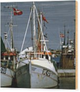 Scandinavian Fisher Boats Wood Print