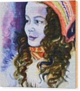 Scandinavian Girl Wood Print