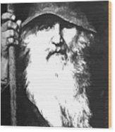 Scandinavian Mythology The Ancient God Odin Wood Print